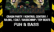 CRASH PARTY/KONTROL CENTER1/RA:SKL/CULT/BASSCHIMP/TOY BEATS - Fun & Bass (Breakbeat Paradise) - exclusive 13-12-2018